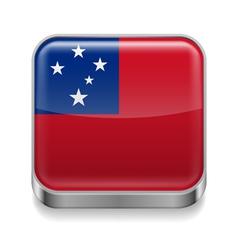Metal icon of samoa vector