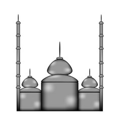 Mosque sign icon vector