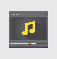 Music player 39 vector image vector image
