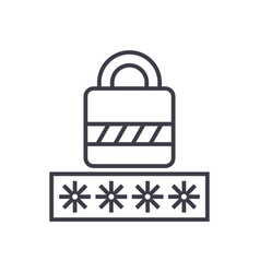 passwordlogin lock line icon sign vector image