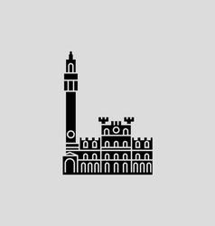 Piazza Del Campo Siena vector image