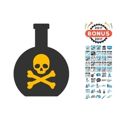 Poison Icon with 2017 Year Bonus Symbols vector image