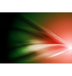 Red and green gradient waves vector image