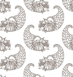 Seamless hand-drawn thanksgiving pattern vector