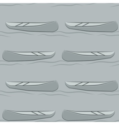 Seamless pattern of abstract canoe background vector image