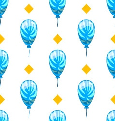 Seamless pattern with cute cartoon balloons 8 vector image vector image