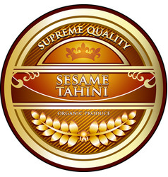 Sesame tahini icon vector