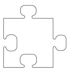 The puzzle the black color icon vector