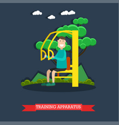 Training apparatus flat vector