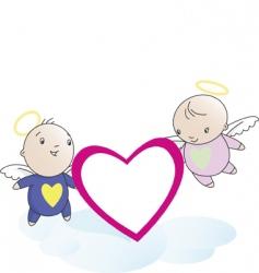 valentine angels vector image