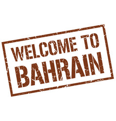 Welcome to bahrain stamp vector