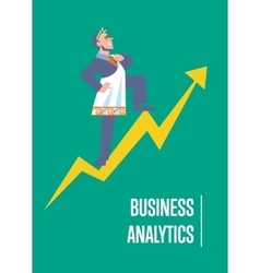 Business analytics banner with businessman vector