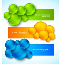 Set of banners with bubbles vector