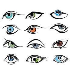 Eye designs vector image