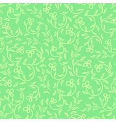 Spring greens and flowers seamless pattern vector