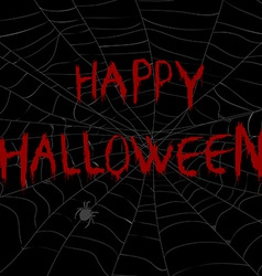 Halloween with spider web in the dark vector