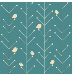 Creative vintage seamless branch trees vector