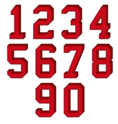 3d numbers vector