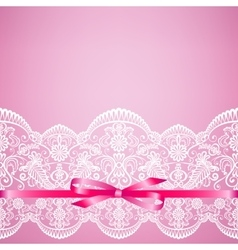 lace on pink background vector image