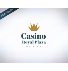 Casino logo icon poker cards or game and vector