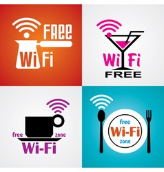 Wifi cafe symbols vector