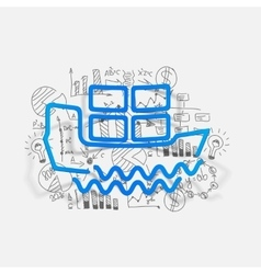 Drawing business formulas ship vector image
