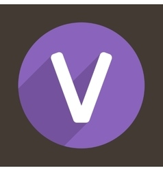 Letter v logo flat icon style vector