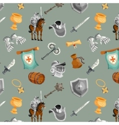 Knight seamless pattern vector