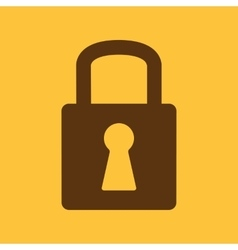 The lock icon lock symbol flat vector