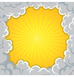 Cloud explosion yellow background Pop-Art Style vector image