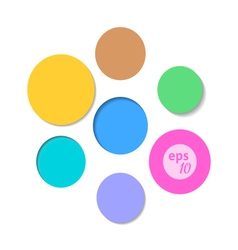 Colorful Circle Background Set vector image