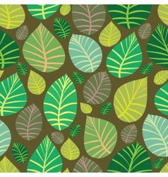 Background of leaves Seamless vector image vector image