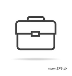 briefcase portfolio outline icon black color vector image