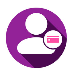 Card payment people user icon vector