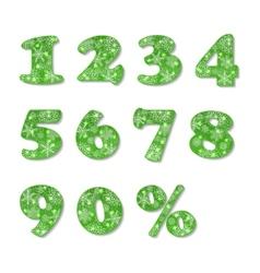 Christmas numbers set vector image