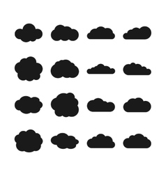 Cloud black icons vector