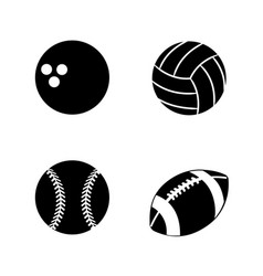 contour diferents plays balls icon vector image vector image