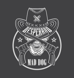 Cowboy emblem vector image