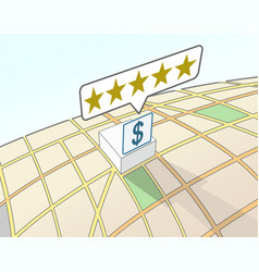 Financial institution top user rating vector