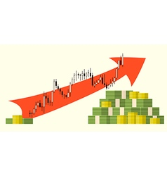 Forex money growth vector
