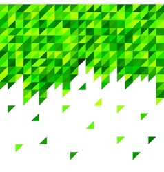 Geometric mosaic pattern from blue triangle vector