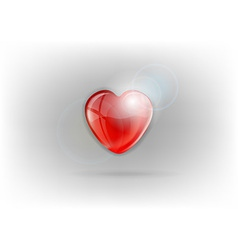 Heart shine on light vector