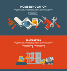 home renovation and construction web banner vector image vector image