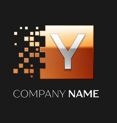 Letter y logo symbol in the colorful square vector