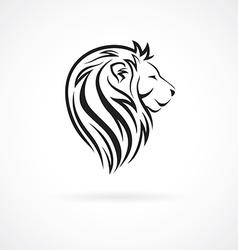 Lion head logo design template concept icon for vector image