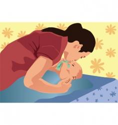 Mama kiss vector