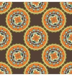 Mandala gear design vector image