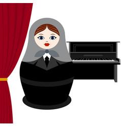 Musician piano vector