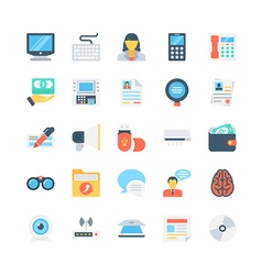 Office and stationery icons 6 vector