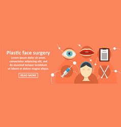 plastic face surgery banner horizontal concept vector image